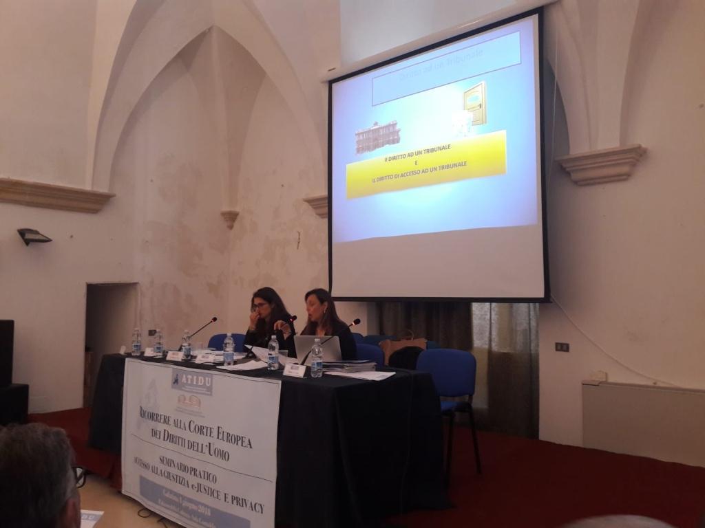 Avv Michela Petrachi al seminario e-justice atidu